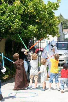 Lilly and the brothers: A Star Wars Birthday Party Part 2: Battling Darth Vader and the Storm Troopers
