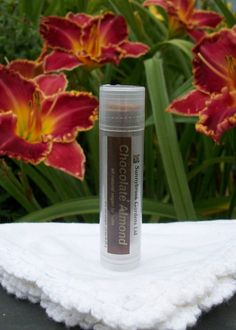 Chocolate Almond Lip Balm, handcrafted, all natural, vegan friendly, cruelty free