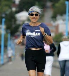 """Ruth Heidrich, vegan Ironman triathlete, named one of the """"Ten Fittest Women in North America"""" Aged To Perfection, Ageless Beauty, Advanced Style, Young At Heart, Going Gray, Aging Gracefully, Silver Hair, Getting Old, Fitness Inspiration"""