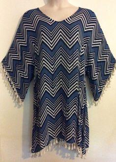 bb5ce12198e One ADRIFT brand plus size XXL bright colourful summer season dress tassel  trim