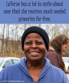 WELCOME HELP FOR HUNGER: CHESAPEAKE, VA - LaVerne left her job to care for her husband, but only months later he passed. She wanted to return to work, but her own health issues prevented it. She faced a tough choice between paying her electric bill or buying food until a friend told her about House of Blessing, an Operation Blessing partner, who could help. Read more... #hungerinamerica