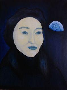 Shamil Shaaev, The Moon, oil on canvas, 2017