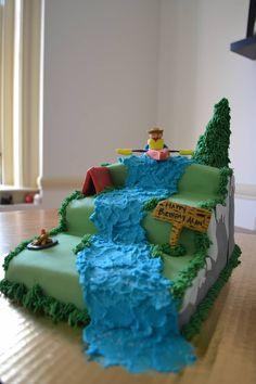 Kayaking cake Dawns Kayak Wedding Shower Pinterest Cake