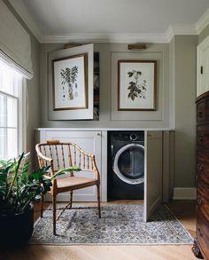 Beautiful Interior Design, Beautiful Interiors, Interior Inspiration, Room Inspiration, Laundry Room Design, Laundry Area, Laundry Room Rugs, Laundry Room Wall Decor, Laundry Room Shelves