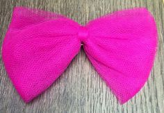 Pink tulle bow, hair barrette, hair accessory, hair fashion, hair bow, bow tie, hair bow for girls, hair bow for teens, hair bow for baby by SmittenGiftShop on Etsy https://www.etsy.com/listing/450463368/pink-tulle-bow-hair-barrette-hair