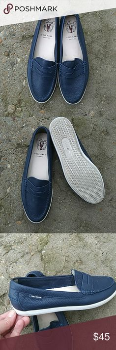 Cole Haan Pinch Maine Classics FINAL PRICE!!! Beautiful Cole Haan Pinch Maine Classics size nine. Navy blue in great condition. Cole Haan Shoes Flats & Loafers