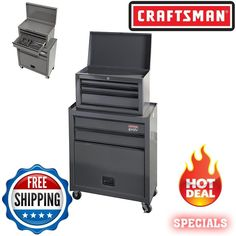 Craftsman 18 Gallon Mobile Tool Chest Box With Parts