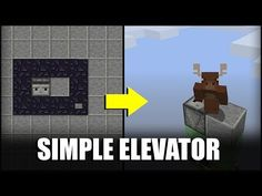 ✔️ How to Build the BEST Elevator in Minecraft! (Survival Friendly) - YouTube