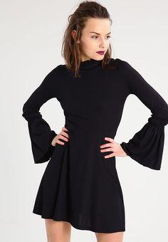 Topshop Petite Sukienka z dżerseju - black - Zalando.pl