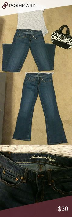 American eagle jeans Like new condition, size 2 stretch blue jeans from American eagle. American Eagle Outfitters Jeans