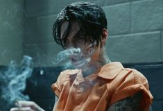 Image about smoke in ♥Black Veil Brides ♥ by Fashion👠💕 Andy Black, Andy Biersack, Black Veil Brides Andy, Bad Boy Aesthetic, Poses References, Attractive People, Hot Boys, American, Satan