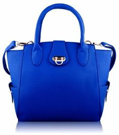 Ladies Fashion Blue Gold Trim Womens Faux Leather Top Handle Long Strap Handbag KCMODE KCMODE, To BUY or SEE just CLICK on AMAZON right here http://www.amazon.com/dp/B00GJTOZ3O/ref=cm_sw_r_pi_dp_IZ0stb0XVR57SS6W