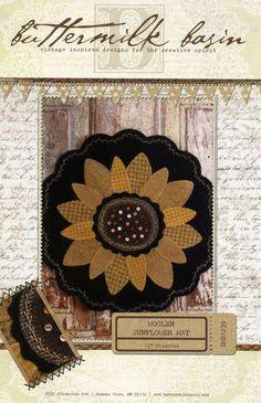 Woolen Sunflower Mat Pattern by Buttermilk Basin
