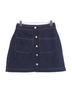 샤인버튼,skirt