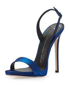 Satin Slingback Sandal, Electric Blue by Giuseppe Zanotti at Neiman Marcus. $650.00