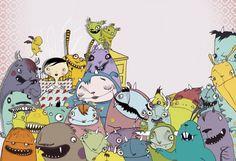Polly-Esther og Ønskemonsteret 2010 - Tiril Valeur Everything Is Awesome, Peanuts Comics, Snoopy, Illustration, Fictional Characters, Art, Art Background, Illustrations, Kunst