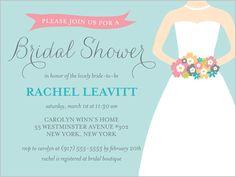 Lovely Bouquet 4x5 Invitation | Bridal Shower Invitations