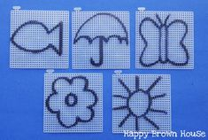Easy Sewing Cards with plastic canvas