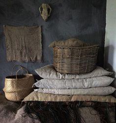Love your squishy #linen cushions @mrandmrscharlie  by loveoflinen