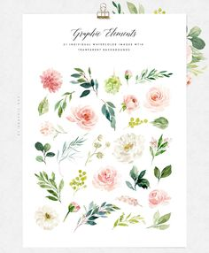 Ethereal Blush-Florals Graphic Set by Graphic Box on @creativemarket