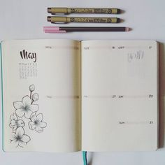 Week 3. Still working on my drawing / doodling skills. So far the layout is working out quite well, but I might have left a bit too much space for the daily things. #bulletjournal #bujo #bulletjournalpolska #bulletjournaljunkies #may #weeklyspread #sakura #cherryblossom