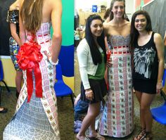 dress made of playing cards