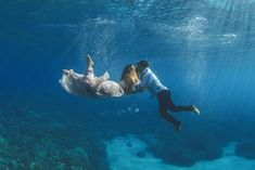 Underwater Wedding Portraits Off the Coast of Maui
