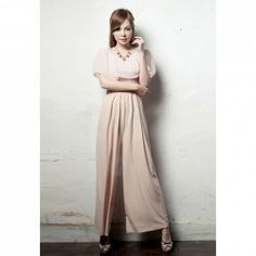Openwork High-Waist Solid Color Street-Style Jumpsuits For Women