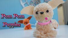 Manualidades fáciles para niños: cómo hacer perritos con pompones de lana