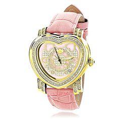 Luxurman Watches: Pink Ladies Diamond Heart Watch 0.30ct Luxurman http://www.amazon.com/dp/B007ZQR2B2/ref=cm_sw_r_pi_dp_AQ51tb0JGGAFC699