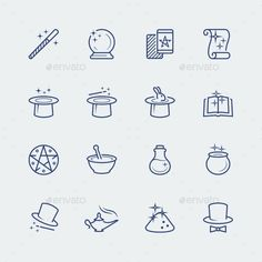 Buy Vector Set Of Magic Related Icons by greyj on GraphicRiver. Vector set of magic related icons Magic Doodle, Doodle Art, Learn To Sketch, Bullet Journal Notes, Halloween Doodle, Little Doodles, Poke Tattoo, Stick And Poke, Sketch Notes