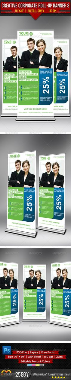 Creative Corporate Roll-Up Banner 3 :   check out this #creative #corporate #roll-up #banner #design http://graphicriver.net/item/creative-corporate-rollup-banner-3/4914999?ref=25EGY