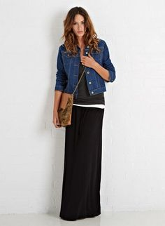 Maxi Skirt | Baukjen this outfit is already in my closet Yeah.... EdithSellsHOmes@gmail.com