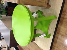 Love this lime green accent table from @HomeGoods