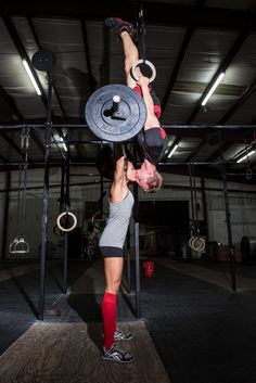 Crossfit-themed engagement photos