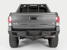 Toyota Tacoma Without Rear Parking Assist Sensors Vengeance Full Width Rear HD Bumper by Fab Fours®. With Park Assist Sensor Holes. Toyota Tacoma Bumper, Toyota Tacoma 2016, Toyota Hilux, Toyota 4x4, Toyota Tundra, Hummer H3, Toyota Trucks, Lifted Trucks, Gm Trucks