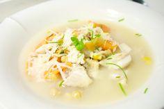 Hämmentäjä: Sitruunainen ahvenkeitto. Perch soup with lemon.