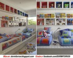 Dormitorios: Fotos de dormitorios Imágenes de habitaciones y recámaras, Diseño y Decoración: Dormitorios compartidos para hermanos o Habitacion...