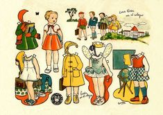 Today I want to share with you some paperdolls that have clothes for different seasons, as opposed to a paper doll with clothes dedicat. Vintage Playmates, Snow White Disney, Paper Crafts For Kids, Craft Kids, Vintage Paper Dolls, Free Prints, Paper Toys, Vintage Images, Beautiful Dolls