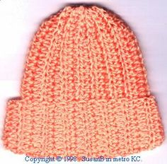 Quick, easy pattern. My first one isn't very stretchy. I'll try different yarn next time.