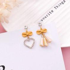 Heart Earrings, Drop Earrings, Shape Patterns, Love Heart, Fashion Earrings, Sweet, Cute, Gifts, Jewelry