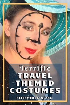 Are you looking for travel themed costumes? Need ideas, like a world traveler or time travel costume? For Halloween or a travel themed party, check out these fun, practical, and sometimes zany costumes! #timetravelcostumes #travelthemedcostumes #Blissmersion #halloweencostumes #travel