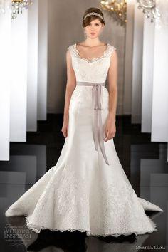 martina liana bridal fall 2013 wedding dress style 453 lace cap sleeves