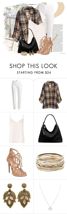 """""""#586"""" by joanaraquelgt ❤ liked on Polyvore featuring Basler, Bobeau, L'Agence, Michael Kors, Jessica Simpson, Kendra Scott and Wolf & Moon"""