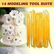 14 Pcs Sugarcraft Cake Decorating Fondant Icing Plunger Cutters Tools Mold