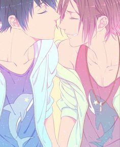 Free! ~~ The teardrop makes my heart tighten :: Rin Matsuoka x Haruka Nanase