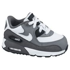 43dc5e35847bec Nike Air Max 90 - Boys  Toddler - White Cool Grey Dark Grey. Baby Boy  ShoesKid ...