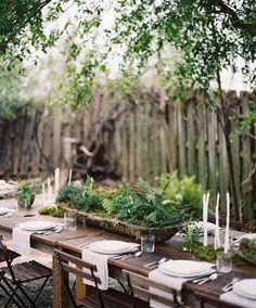 Deco table verdure centre de table feuillage