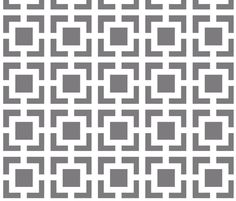 Moroccan Square in Gray and White fabric by fridabarlow on Spoonflower - custom fabric