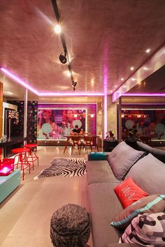 Home Room Design, Dream Home Design, Home Interior Design, House Design, Pinterest Room Decor, Neon Bedroom, Living Room Decor, Bedroom Decor, Music Studio Room